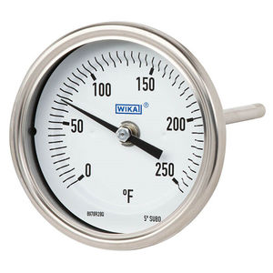 bimetallic thermometer / dial / insertion / rugged