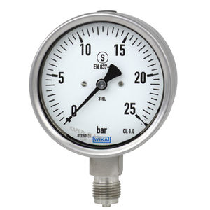 analog pressure gauge / liquid-filled Bourdon tube / process / for gas