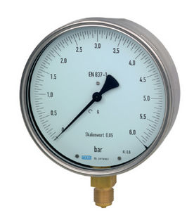 analog pressure gauge / Bourdon tube / for gas / for liquids