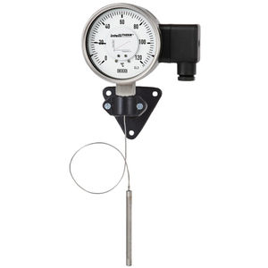 gas expansion with capillary thermometer / analog / surface-mount / stainless steel