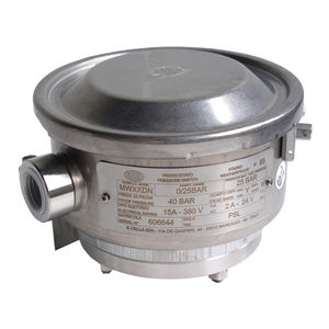liquid pressure switch / for gas / diaphragm / for the chemical industry