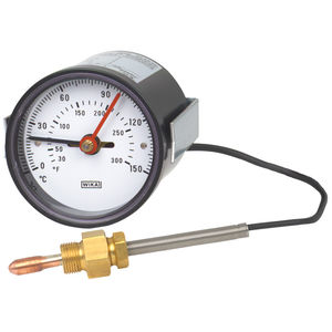 gas expansion with capillary thermometer / analog / fixed / dial