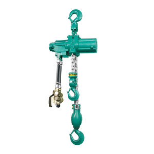 pneumatic chain hoist / low headroom / heavy-duty / explosion-proof