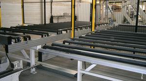 belt conveyor / roller / for wood / modular