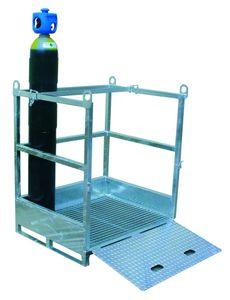 metal pallet / ISO / for gas bottles / transport
