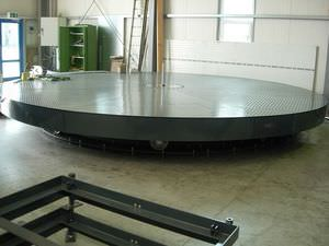rotating platform / for heavy vehicles / for heavy loads