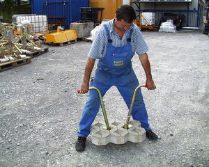 slab laying clamp