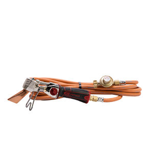 roof tile soldering iron / gas / with pressure regulator / with hose