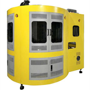 servo-driven screen printing machine / two-color / for glass bottles / for the plastics industry