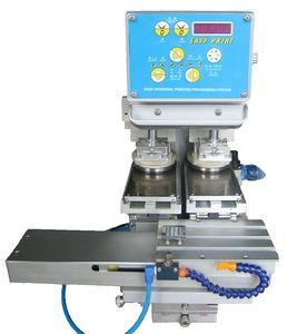 pad printing machine with closed ink cup / for the toy industry / for the cosmetics industry / high-speed