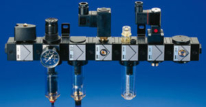 pressure filtration unit / for compressed air / compact / modular