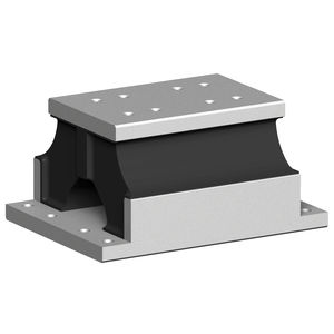 rectangular anti-vibration mount / metal / rubber / for heavy-duty applications