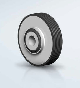 round anti-vibration mount / rubber / metal / for heavy-duty applications