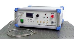 continuous wave laser system / fiber optic / multiple-wavelength / modulated