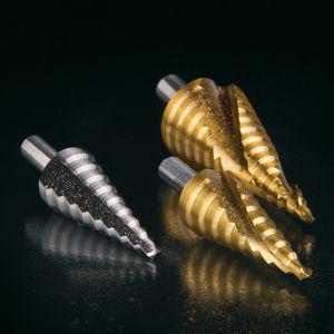 step drill bit / solid / for plastics / for aluminum