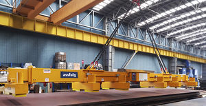 magnetic module lifting beam / for sheet metal / electric / adjustable