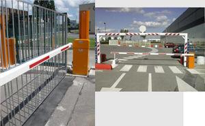 access barrier / pedestrian / lifting / for vehicles