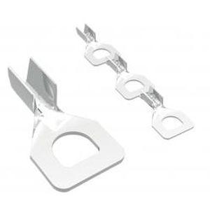 ring solderless terminal / rectangular / non-insulated / copper