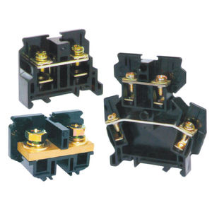 screw connection terminal block / DIN rail-mounted / fused / modular