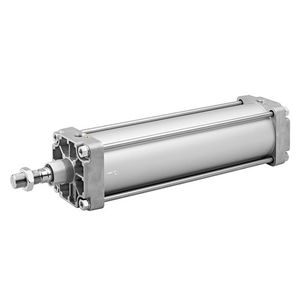 pneumatic cylinder / double-acting / tie-rod / steel