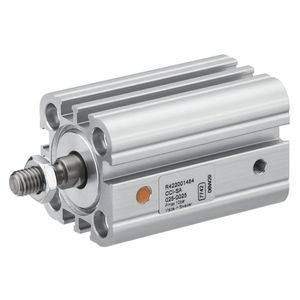 pneumatic cylinder / single-acting / compact / stainless steel