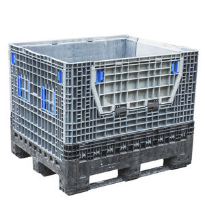 plastic pallet box / standard / with folding sides