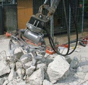 jaw mill / vertical / concrete / for excavators