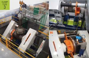multi-parameter test bench / for valves / horizontal / hydraulic