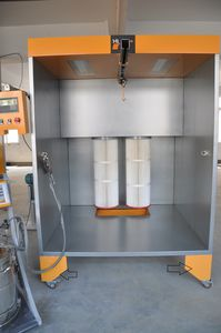 cartridge filter powder coating booth