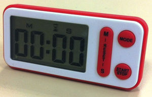 digital timer / portable / with housing