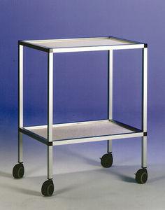 transport cart / laboratory / metal / multipurpose