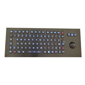 panel-mount keyboard / with mechanical keys / 84-key / with trackball