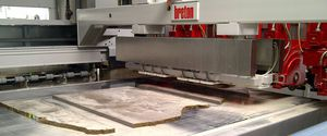 granite cutting machine / for marble / rotary blade / automatic