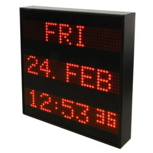 LED display panels / alphanumeric / 3-line / indoor