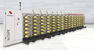 yarn winding machine / package / semi-automatic / precision
