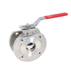 wafer valve / ball / lever / for compressed air