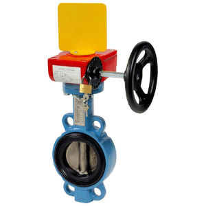 butterfly valve / with handwheel / for water / wafer