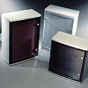 wall-mount enclosure / modular / rectangular / plastic