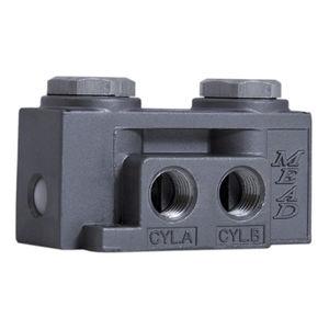4-way valve / plug / pneumatically-operated / control