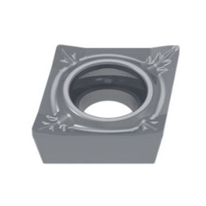 positive turning insert / carbide / for steel / for superalloys