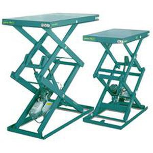 double-scissor lift table / electric / stationary