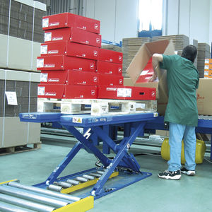 scissor lift table / electric / stationary / loading