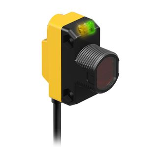 through-beam photoelectric sensor / rectangular / laser / compact