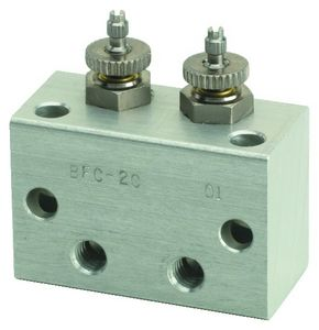 2-channel manifold / stainless steel