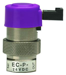 direct-operated solenoid valve / 2-way / air / in-line