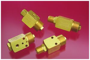 plug valve / pneumatically-operated / brass / normally closed