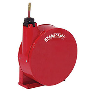 hose reel / self-retracting / with mounting bracket / enclosed