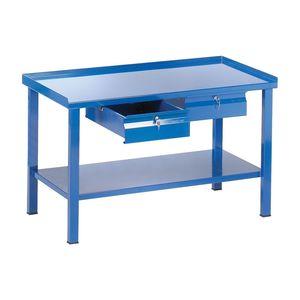 steel workbench / 2-drawer / monobloc