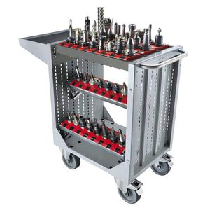 tool-holder cart / service / steel / 3 levels