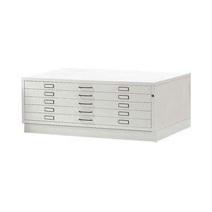 storage cabinet / floor-mounted / 5-drawer / sheet steel